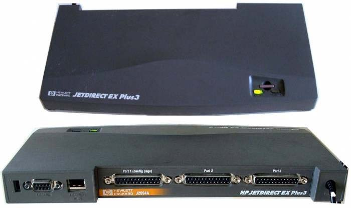 configure instructions for a j7934a jet direct card
