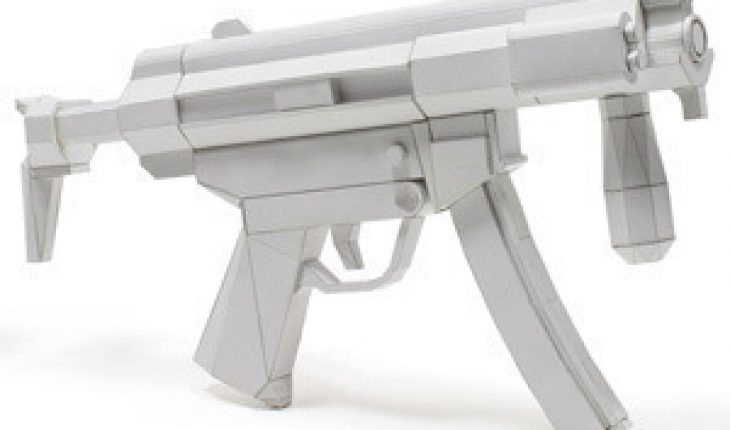 how to make a paper gun instructions with pictures