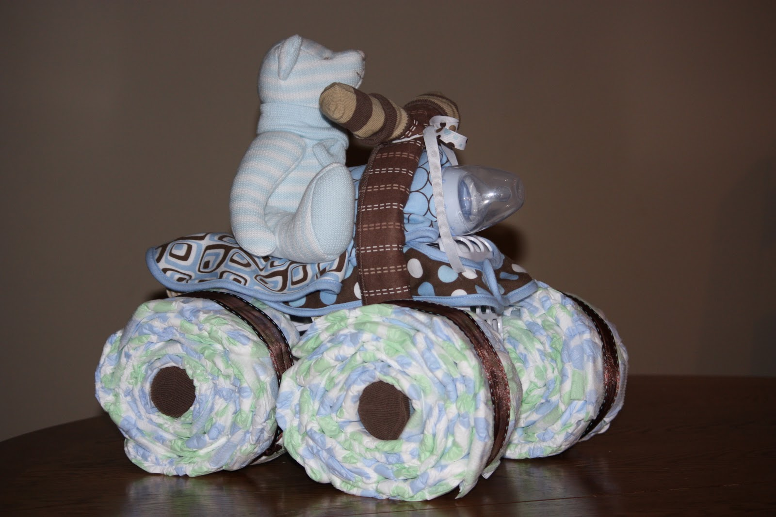 instructions for diaper baby cake