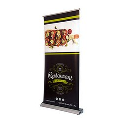 deluxe wide base single-screen roll up banner stand instructions