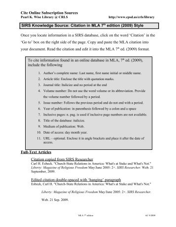 instructions mla bibliography and example pdf