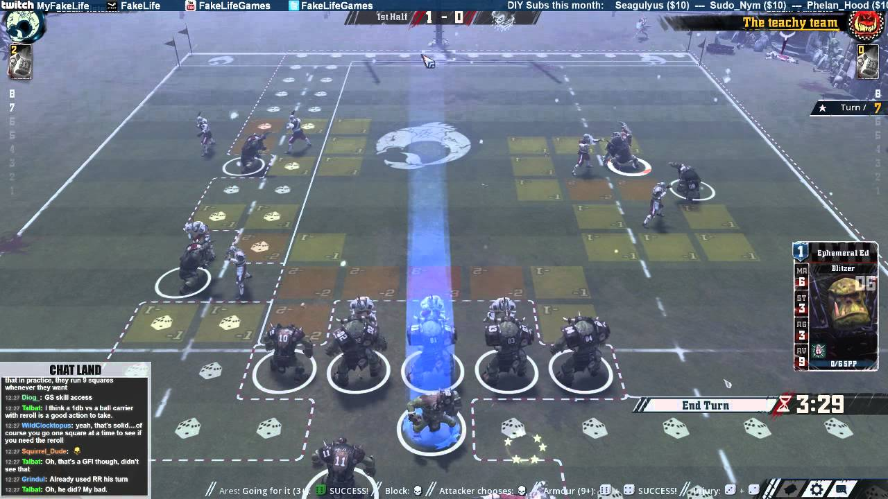 youtube instructional video blood bowl