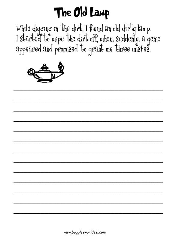 creative ideas for writing instructions
