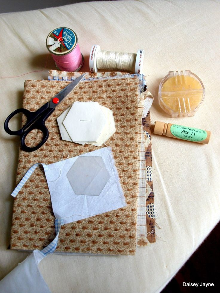 english paper piecing hexagons instructions