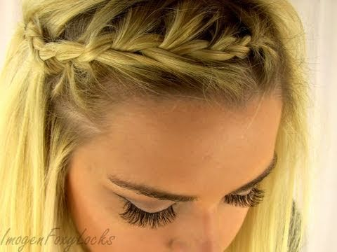 easy instructions on how to french braid your own hair